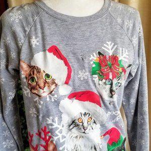 FREEZE Cat Christmas Holiday Shirt